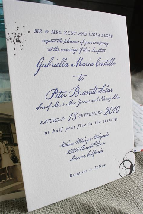 Wedding Invitation Text by Best Of 2010 Wedding Invitations Vintage Letters