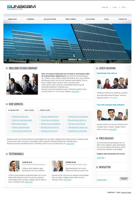 Solar Energy Website Template 24835 Solar Website Templates