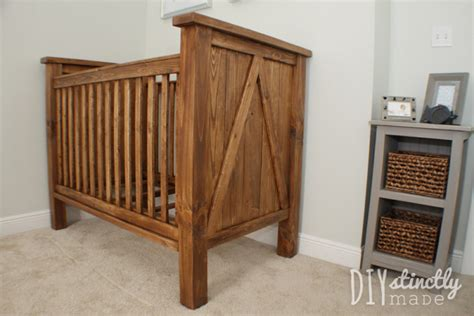 Handmade Cribs - white diy farmhouse crib featuring diystinctly