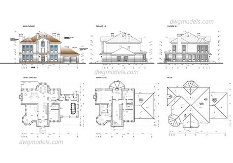 house plan dwg family house dwg free cad blocks
