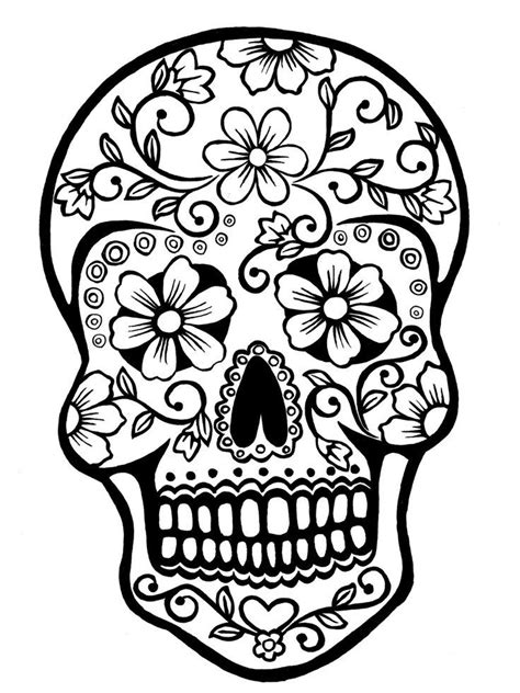 cool day of the dead coloring pages day of the dead skull coloring pages allmadecine