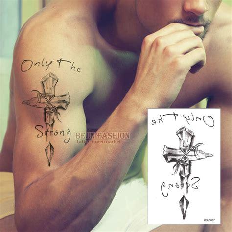 cross temporary tattoos aliexpress buy temporary tattoos neck back cross 3d