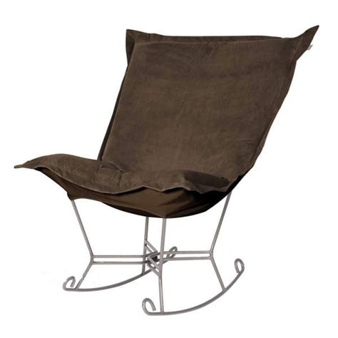 puff chair rocker howard elliott puff rocker chocolate