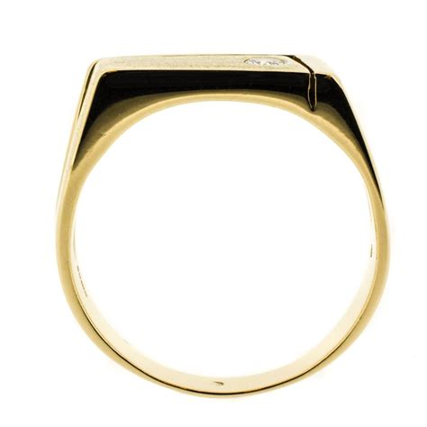 18k gold and s ring