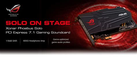Asus Rog Xonar Phoebus The Greatest Ultimate Gaming Sound Card born for the win precise positioning and lifelike immersion