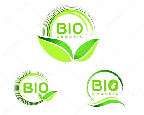 logo designer biography ikonka logo ekologiczne bio grafika wektorowa