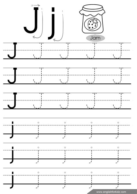 Letter J Worksheets by Letter Tracing Worksheets Letters A J