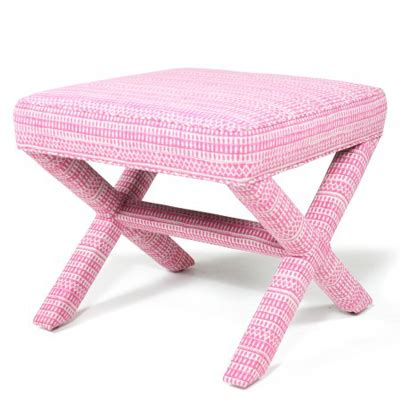 Pink Rigsby X Bench Decor By Color
