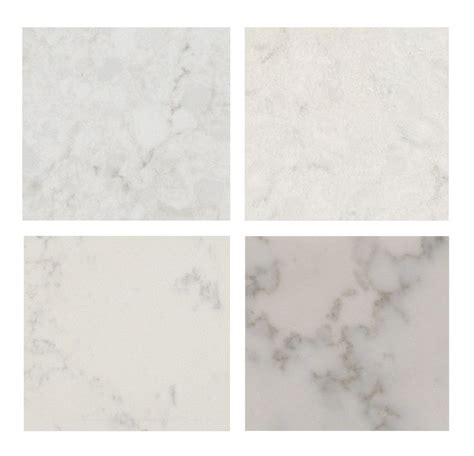 carrara countertops with white cabinets top left caesarstone london gray top right silestone