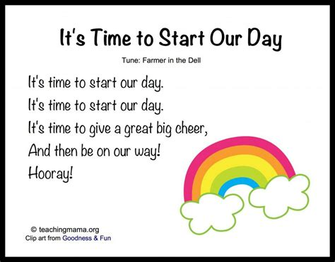 song for kindergarten 8 songs to begin a preschool day