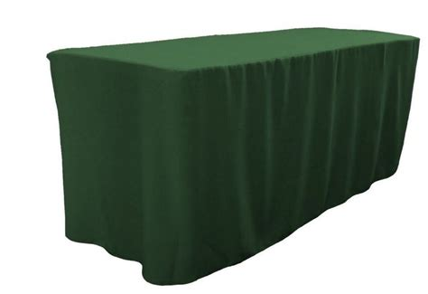 4 ft fitted polyester table cover trade show booth dj