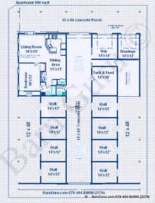 gallery for gt horse barn plans with living quarters horse barns with living quarters floor plans