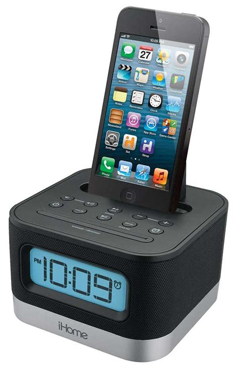 ihome 110 240 volts fm clock radio alarm with lightning dock for iphone 5 5s and 6 6plus