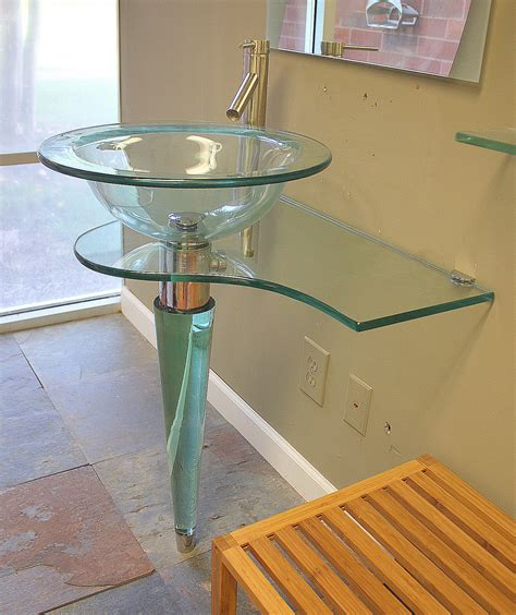 glass vessel sink vanity glass vanity with vessel sink home ideas collection