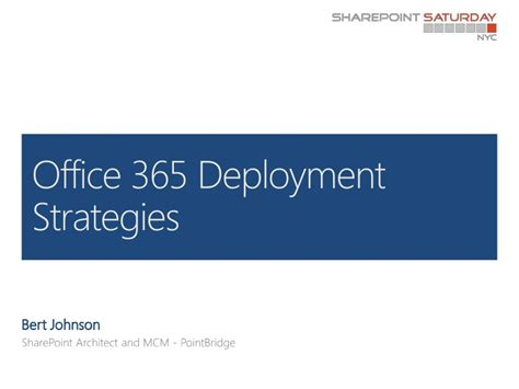 Office 365 Deployment Tool by Office 365 Deployment Strategies 2 0