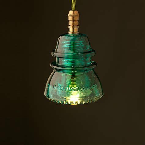 Insulator Pendant Light Hemingray Insulator No42 Green Ses Pendant Light