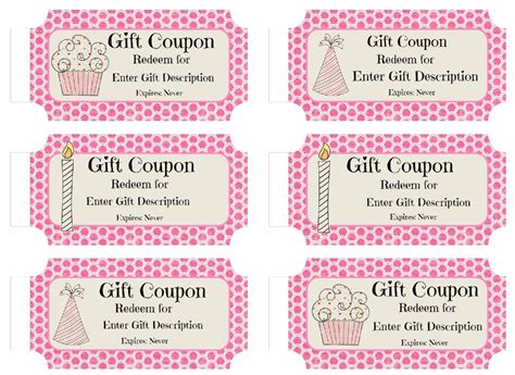 Free Groupon Gift Card Code - free custom birthday coupons customize online print at home