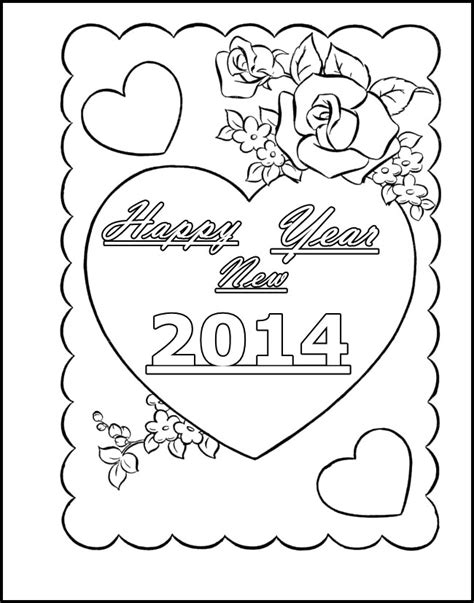 new year card coloring pages heart coloring pages for girls az coloring pages