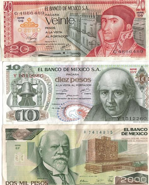 Mexican Peso Currency Flags Of Countries