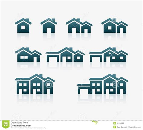 modern home design vector house icon set royalty free stock photography image