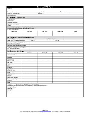 bpo form fill online printable fillable blank pdffiller