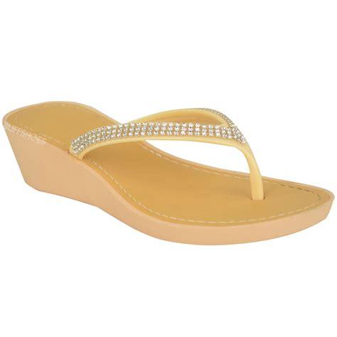 Heel Shoes Jelly womens wedge jelly sandals low heel flip flops