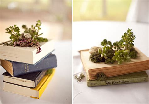 How To Make A Book Planter diy book planter with succulents green wedding shoes