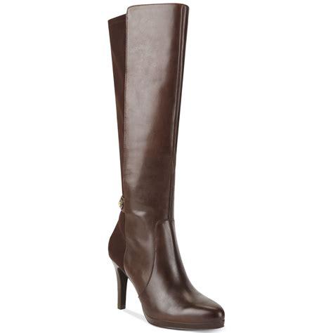 tahari garrett dress boots in brown brown leather lyst