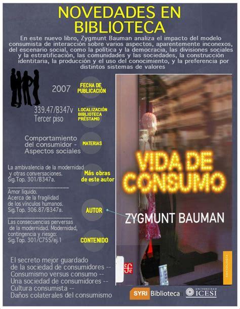 libro vida lquida libro vida de consumo novedades bibliogr 225 ficas