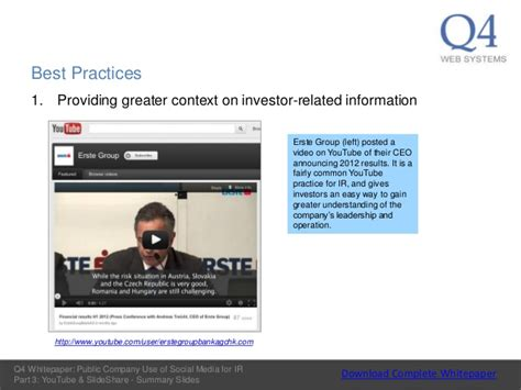 salo share part 4 youtube q4 research public company use of social media for ir