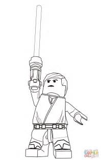 luke skywalker coloring page lego wars luke skywalker coloring page free