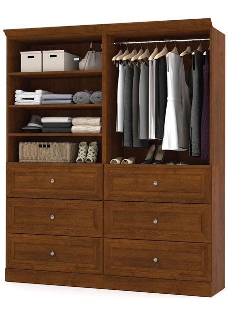 Versatile Wardrobe by Versatile Tuscany Brown 72 Storage Wardrobe From Bestar
