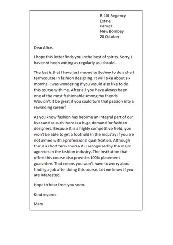 informal letter template collection