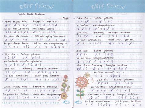 bara bere versi keyboard not angka afgan jodoh pasti bertemu lhia s notes