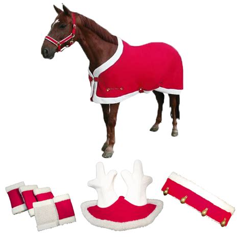 how to put on a rug with leg straps santa reindeer costume w rug antlers bridle bells leg wraps ebay