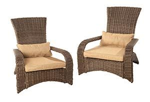 patioflare premium wicker muskoka chair  pack amazonca