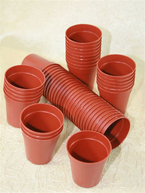 Small Plant Pots 100 Miniature Plastic Plant Pots 45mm 1 And 3 4 Small