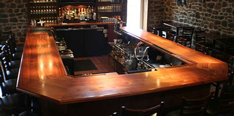 Custom Bar Tops by Wood Bar Tops For Home Or Commercial Spaces By Grothouse