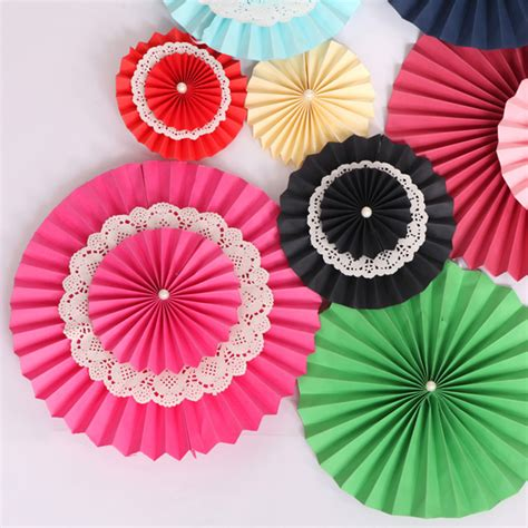 Paper Fan Origami - 15cm paper fan origami flower wedding decoration happy