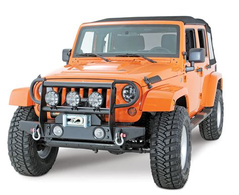 Brush Guard For Jeep Wrangler Olympic 4x4 Products 670 174 Side Brush Guards For 07 17