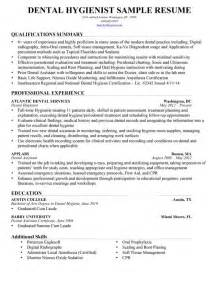 Dental Hygiene Resume Sle by Resume For Dental Hygienists Sales Dental Lewesmr