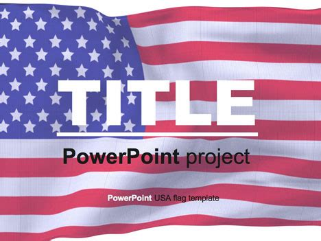 American Flag Powerpoint Template Usa Powerpoint Template