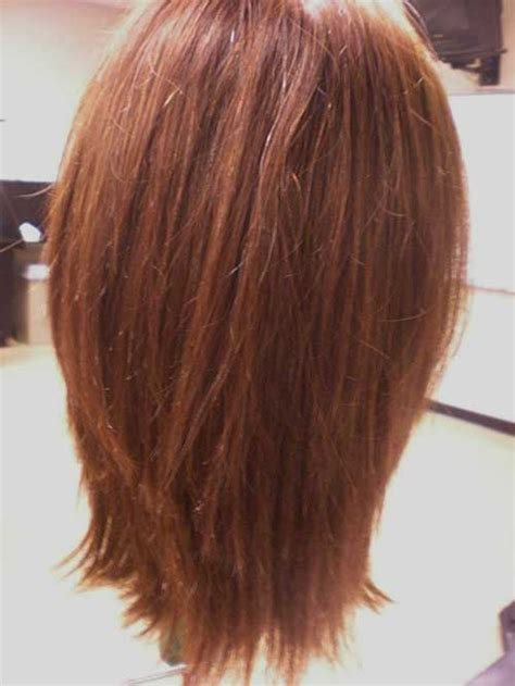 long layered hair front and back view stacked wedge haircut photos back view