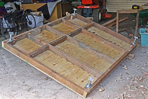 build  raised shed base
