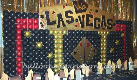 vegas theme decorations vegas themed bar mitzvah decorations