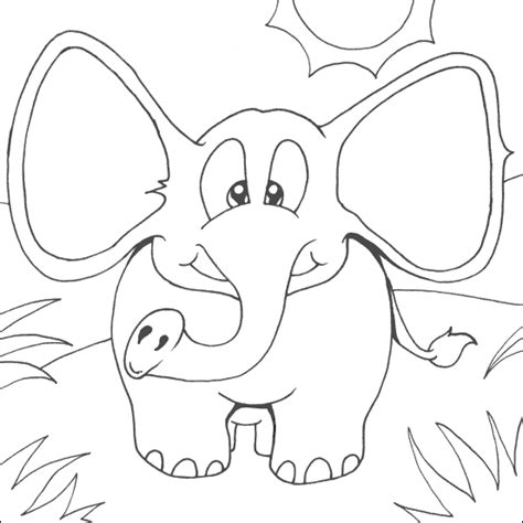 coloring book pages elephant elephant free coloring pages