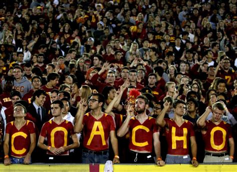 couch o usc morning buzz is the coliseum student section under