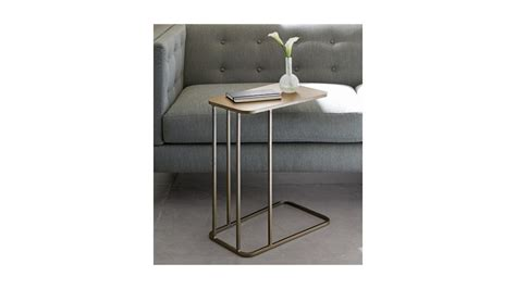 crate and barrel siena c table siena c型桌siena c table crate and barrel