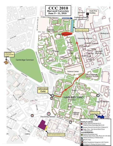 harvard cus map harvard yard map