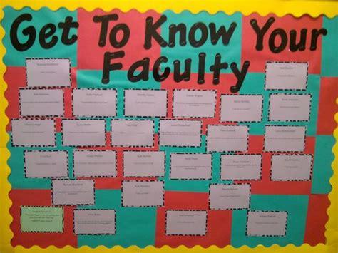 bulletin board ideas teachers september bulletin board facts about faculty in your